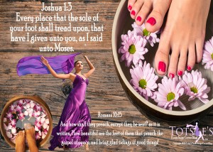 your feet are blessed